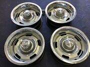 Gm Real 15x7 Set 4 Ag Corvette Rally Wheels Restored Gm Rings And Caps Driver