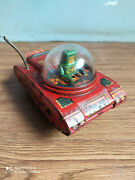 Rare Vintage Wind-up Space Explorer Tin Toy Of 60and039s Working Order.