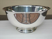 Large Gorham Sterling Silver Revere Bowl- 32.6 Toz No Monogram Great Condition