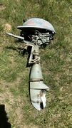 Vintage / Antique Johnson Seahorse Outboard Boat Motor Parts Or Repair 1940s 50s