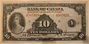 1935 10 Bank Of Canada Osborne/towers Bc-7 A567629 Vf30