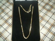 14k Solid Gold Franco Chain Necklace 30 Inches No Scrap