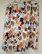 Vintage Mid Century Modern 4 Panel Polyester Curtains Drapes Funky Retro 54x168