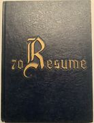 1970 Cape Fear High School Yearbook, The Resume, Fayetteville, Nc, Volume I