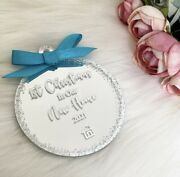 Christmas Bauble Personalised 'first Christmas New Home' Tree Ornament Gift
