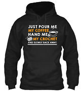 Pour My Coffee Hand Me My Crochet Classic Pullover Hoodie - Poly/cotton Blend