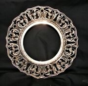 Vintage Epns S706 Wallace Silver Plate Trivet 8 Across 1 Tall 13 Oz Tarnished