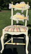Mackenzie Childs Freckle Fish Chair - 4 Available