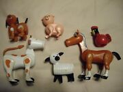 Vintage Fisher Price Little People Family Farm Playset Animals 915 Cow Horse