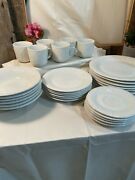 Vintage Gibson Fruit Off-white Set Of Dishes Embossed Fruit Design - 29 Piece