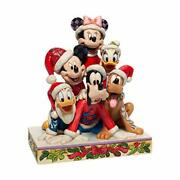 Enesco Jim Shore Disney Traditions Christmas Mickey Mouse And Friends Figurin...