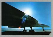 Singapore Airlines Concorde Airline Issue Postcard Sq Sia