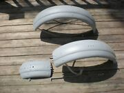 Harley Dl D Rl C B Ba Front And Rear Fender With Skirts 45 Flathead