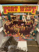 Vintage Fort West Cowboys And Indians Play Set With Original Box Timmee Toys