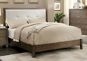 Simple Gray Bedroom Cal King Size Bed Tufted Hb Solid Wood Furniture Slats Kit
