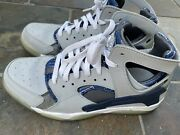 Nike Air Flight Huarache Gray Blue Sneakers 705005-100 Menand039s Size 10.5