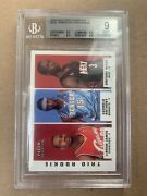 2003-04 Fleer Tradition Lebron James/wade/carmelo Trio Rookie Rc Bgs 9 W/ 3 9.5s