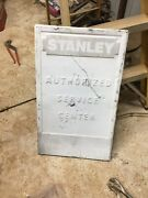 Vintage 30and039and039 X 18and039and039 Stanley Tools Authorized Service Center Dealer Sign Emboss
