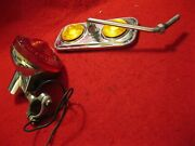 Vintage Bicycle Elec Taillight And Reflector Mirror Imasen-made In Japan26408