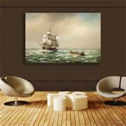 Sailboat Posters And Prints Wall Pictures For Living Room Nordic Home Decor