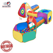 Ball Pit, Play Tent And Tunnels For Kids, Target Game W/ 4 Darts Indoor, Outdoor
