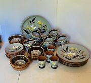 47 Pieces Stangl Golden Harvest Pottery Dishes
