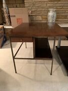 Paul Mccobb For Calvin Walnut And Brass Side End Table - Mid-century Modern - Mcm