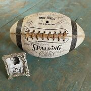 1964 Cleveland Browns Team Signed White Football Jim Brown And 30+ Autos Chanpions