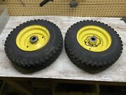 John Deere 110 112 140 208 210 212 300 316 Nartow Front Rims Fit 1 Inch Spindle