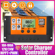 Mppt+pwm 100a Solar Panel Regulator Charge Controller Auto Focus Tracking 12/24v