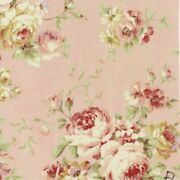 62 Remnant Cottage Shabby Chic Lecien Durham Quilt Roses Floral Fab 31926 Pink