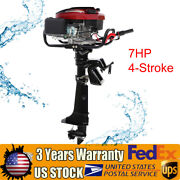7hp 4-stroke Outboard Motor Fishing Boat Engine 196cc W/ Air Cooling System Usa