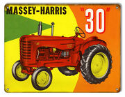 Vintage Style Sign Massey Harris 30 Tractor 12 X 9
