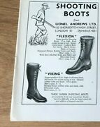 Stgun33 Advert5x4 Shooting Boots From Lionel Andrews Ltd, Flexion And Viking