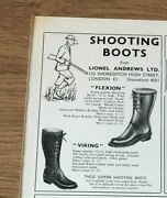 Stgun33 Advert5x4 Flexion And Viking, Shooting Boots From Lionel Andrews Ltd