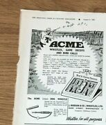 Stgun44 Advert5x4 Acme Silent Dog Whistle, Bird And Game Decoy, J. Hudson And Co
