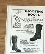 Stgun38 Advert5x4 Shooting Boots From Lionel Andrews Ltd, Flexion And Viking