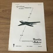 Sta20 Advert 11x8 Martin-baker Ejection Seats For High Speed Jet Aircraft
