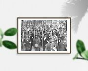 Photo Army Volunteers,scythes,crowd,people,military Personnel,march,uniforms,19