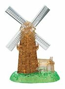 Crystal 3d Puzzle Windmill 64 Pieces Free Shipping With Tracking New Japan
