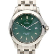 Omega Watches Silver Green Stainless Steel Seamaster120m From Japan Used