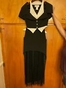 90and039s Vintage Karl Lagerfeld 2pc Tuxedo Designer Dress Perfect Condition Small 38