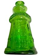 Collectible Wheaton Glass Cape May Bitters Lighthouse Bottle Green