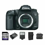 Canon Eos 7d Mark Ii Dslr Camera + 2 Batteries 32gb Flash And More