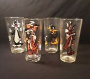 4 Vintage Looney Tunes 1973 Pepsi Collector Series Glasses 6 1/4 Tall 3
