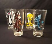 4 Vintage Looney Tunes 1973 Pepsi Collector Series Glasses6 1/4 Tall 5