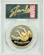Stan Lee Signed 2017 200 Gold Spider-man Pcgs Pr70dcam First Day Issued