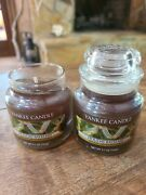 2 Yankee Candle Holiday Bayberry Small Jar Candles 3.7 Ounces Christmas Scent