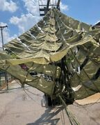 Us Military 26 Ft Diameter Ring Slot Cargo Parachute - Olive Green - Used