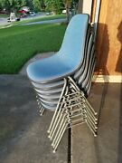 6 Herman Miller Eames Shell Chairs Dss - Authentic With Narrrow Mount Base